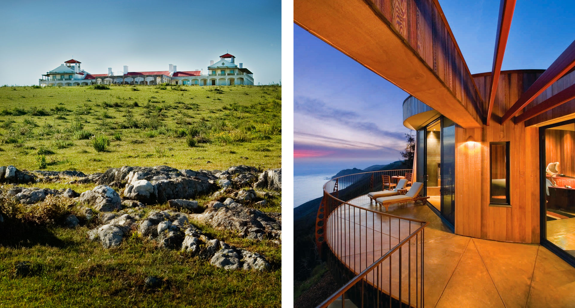 Post Ranch Inn - boutique hotel in Big Sur and Estancia Vik - boutique hotel in Jose Ignacio
